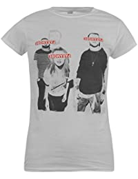 Paramore Eyes Covered Official Band T-Shirt Womens White Music Top Tee T Shirt UK 12 (Medium)