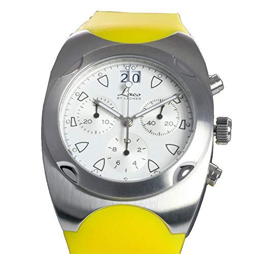 Laco by Lacher–renesse Yellow Cronógrafo–Fabricado en Alemania–Reloj de Hombre/Señor Reloj de Pulsera/Reloj de Pulsera para Hombre
