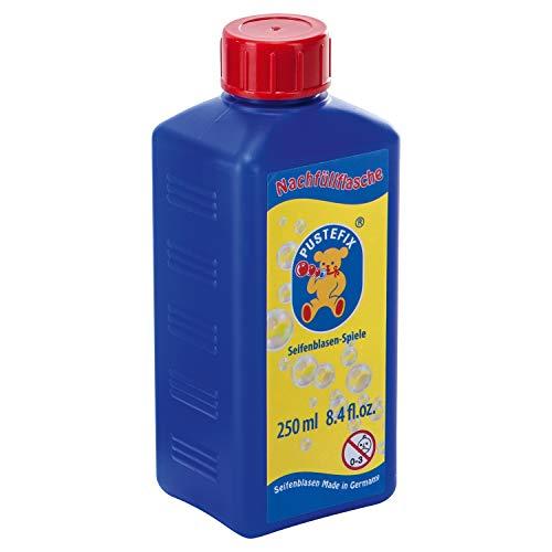 Pustefix Nachfüllflasche Mini I 250 ml Seifenblasenflüssigkeit I Bubbles Made in Germany I Seifenblasen für Hochzeit, Kindergeburtstag, Polterabend I Seifenblasen für Kinder & Erwachsene