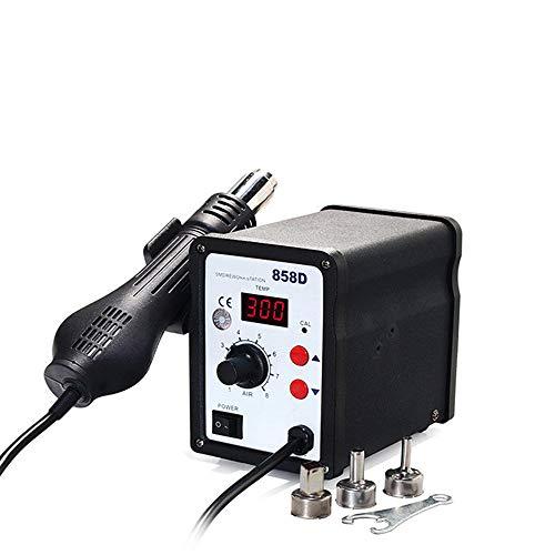 Digital SMD Rework Station Heißluftlötstation Entlötkolben mit 3 Nozzle WEP858D SMD Heißluft-Überarbeitungsstation Heißluftpistole Griff Griffständer -