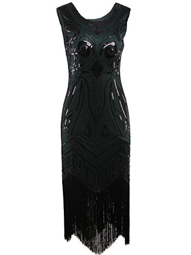 Vikoros Damen Cocktail Kleid, Paisley Gr. XS, (Plus Kleider Silver Size)