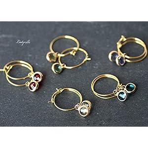 Creolen vergoldete Ohrringe/Himmlische Ohrringe/besonderer Schmuck/Geschenk für Sie/Origineller Schmuck/Geburtsstein/geometrisch