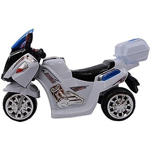 F-Electric estilo Vo33m858blanc-vehículo eléctrico infantil, diseño De Moto De carreras