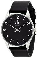 Reloj Calvin Klein ck classic K4D211CX de cuarzo para hombre, correa de cuero color negro de Calvin Klein
