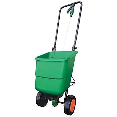 RYOM 409-132 Schleuderstreuer Streuwagen für Dünger, Samen, Streugut, 12 Liter