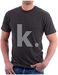 The Souled Store K. Quotes Printed Premium STEEL GREY Cotton T-shirt for Men Women and Girls