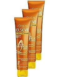 L'Oréal Paris Elsève Liss-Intense Soin Protection Chaleur et Lissage 150 ML - Lot de 3
