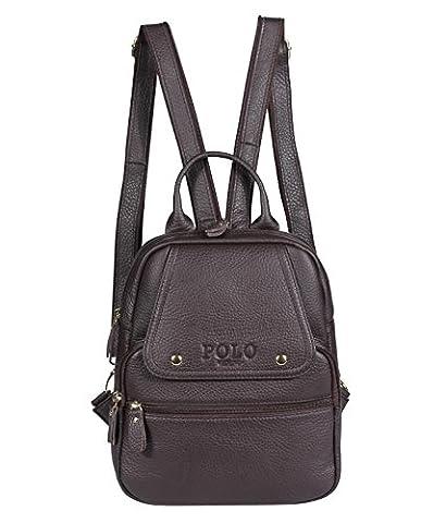 VIDENG POLO Leather Backpack Handbag Casual Daypacks Fashion School Travel Hiking Backpacks for Women,5 Sizes,3 Colors