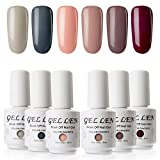 Gellen Vernis Semi Permanent - Vernis à Ongles Vernis Gel UV LED Nail Polish Varnish Soak Off Manucure 6 Couleurs 8ml Nail Art Lot, Thought Bubbles