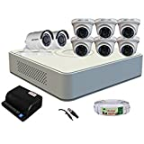 HIKVISION HD Turbo (1MP) 8 CCTV Camera and 8Ch.HD DVR Kit with All Accessories