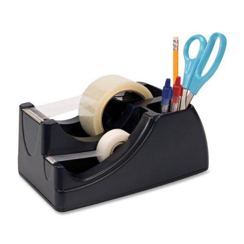 OIC 2-in-1 Klebeband Tischabroller mit Aufbewahrungsfach