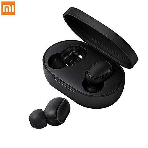 Xiaomi Redmi AirDots Écouteurs Bluetooth 5.0 avec contrôle de la voix, mini écouteurs Bluetooth sans fil intra-auriculaires stéréo avec boîtier de charge portable pour Samsung Huawei