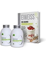 """Eiweiß-Paket """"Gesunde Ernährung"""": 2 Flaschen Good Eggwhites (Bio-Eiklar) & das Ernährungsbuch v. Pumperlgsund - bekannt aus """"Die Höhle der Löwen"""""""