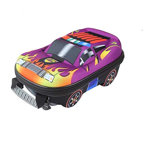 Cartoon 3D Cartoon Car Rucksack Kinderschultasche Für Jungen Satchel Kindertaschen Mädchen T purpurn ()