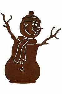 Rost schneemann kurt 30 cm deko dekoration edelrost garten for Deko rost weihnachten