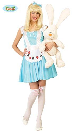 Guirca Alicia Bosco Kostüm Alice Farbe Hellblau/Weiß, Einheitsgröße 40/44, ()