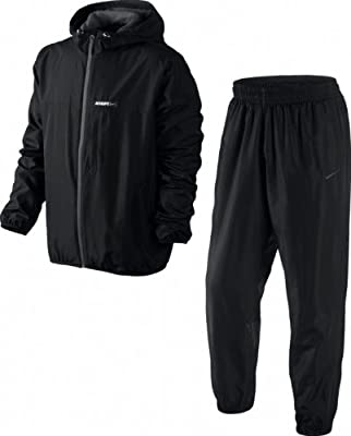 Nike Herren Trainingsanzüge Mens Tracksuit Hybrid Woven Athletic Department Track Jacket Bottoms Hooded Top Pant Black Size S M L XL NEW 481315 010