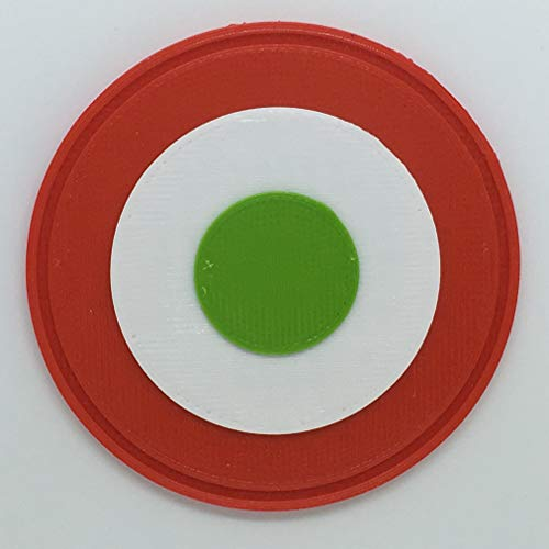 Patch toppa logo flessibile stampata 3d,cucibile,adesiva,magnetica, coccarda bandiera italia - dim 5,6 x 5,6 cm - replica