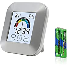 EAAGD Multi-Funzionale Termometro Umidità e Igrometro digitale Temperatura e Umidità Meter / Orologio Sveglia