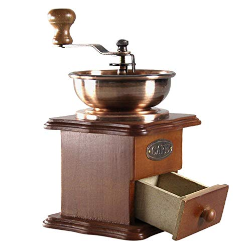 Mryishao Cafetera, cafetera de Cocina casera, batidora de café en granoMáquina de café clásica Manual...
