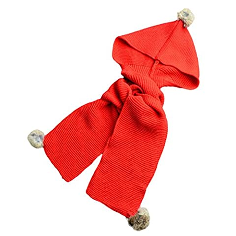Hats&Scarf, Kingko® Autumn Winter Boys Girls Baby Scarf Cotton O Ring Neck Scarves (Red)