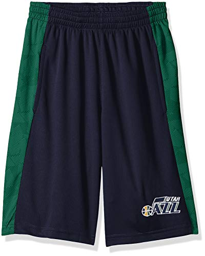 NBA by Outerstuff NBA Youth Boys Utah Jazz Shooter Sublimated Mesh Short, Dark Navy, Youth X-Large(18)
