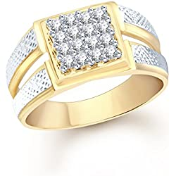 V. K. Jewels Brass Ring Men Gold(Vkfr1104G21)