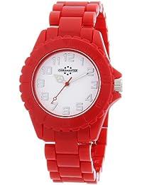 Chronostar - R3751100045 - Montre Femme - Quartz Analogique - Bracelet en Plastique Rouge