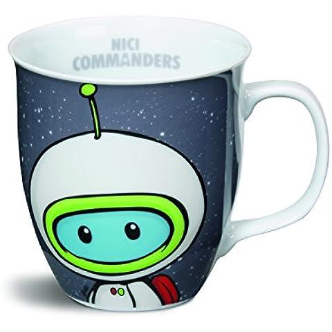 Nici 35639 - Taza (porcelana, 9,5 x 10 cm), diseño de astronauta
