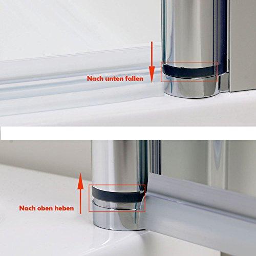 Rahmenlose Duschtür aus Klarglas - 4