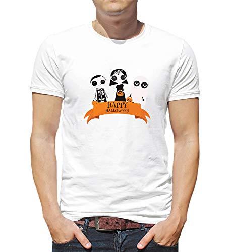 Happy Halloween Scary Kids Tricks Or Treats_006237 T-Shirt Birthday for Him SM Man White