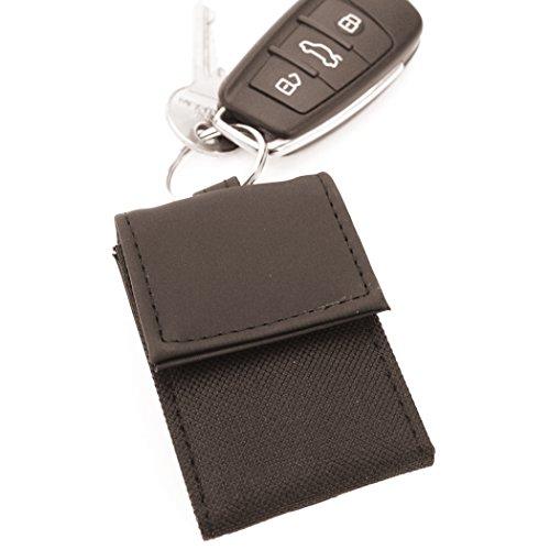 Mini-Geldbörse mit Schlüsselanhänger, ca. 8, 5 x 5, 5 cm groß, schwarz