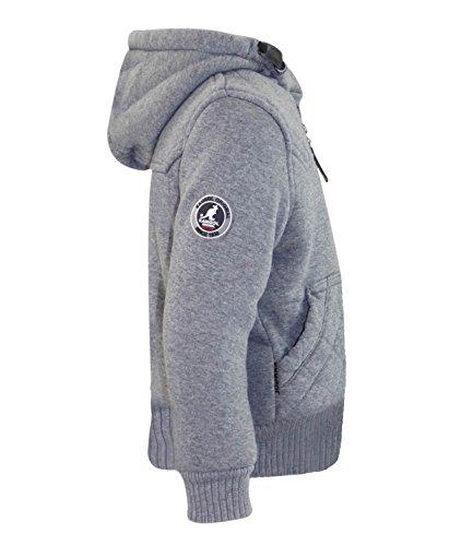 Kinder Kangol Marken Jacken jungen Furliner Winter Mäntel Sherpa Fleece gefüttert Grey Marl