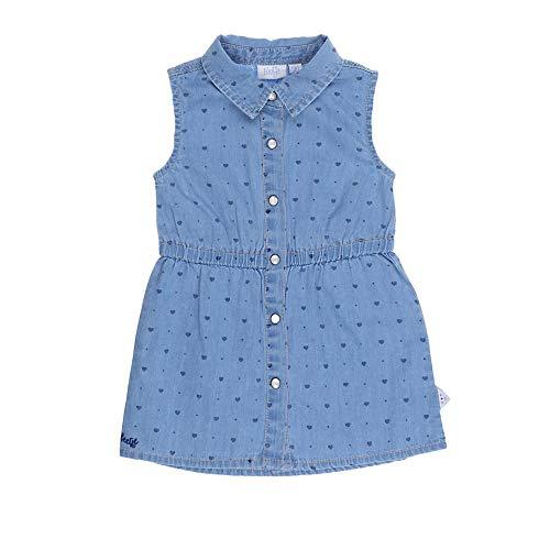 Feetje Baby-Mädchen Kleid Jeanskleid ohne Arm, Denim, 80 -