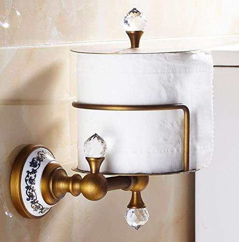 Retro Luxuriöse Toilettenpapier Halter Roll Papierrollenhalter Alle Bronze Gewebe Halter Wandmontage Wc Papier Vorratsdosen Keramik Basis Roll Dispenser -