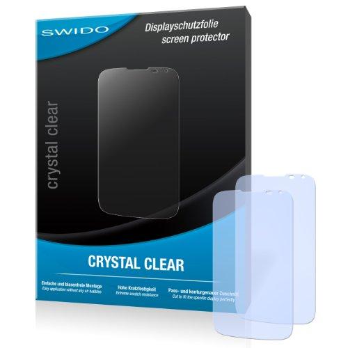 SWIDO Bildschirmschutz für Huawei Ascend G610 [4 Stück] Kristall-Klar, Hoher Härtegrad, Schutz vor Öl, Staub & Kratzer/Schutzfolie, Bildschirmschutzfolie, Panzerglas Folie