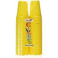 Dopla Colors, vasos de plástico, color amarillo, ...