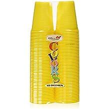 Dopla Colors, vasos de plástico, color amarillo, 100unidades)