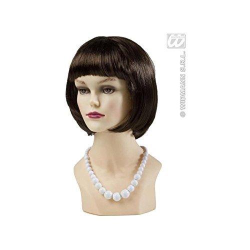 Geniale Perlenkette / Halskette / Halsschmuck in weiß im Stil der 50er bis 70er Jahre