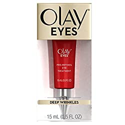 Olay Eyes Pro-Retinol Eye Cream Treatment to Reduce the look of Deep Wrinkles and Reflect Visibly Smoother, Younger-Looking Eyes, 0.5 Fl Oz
