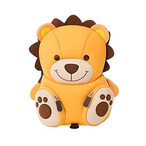 Sac à dos de lion jaune mignon d'enfants avec des rênes, imperméable à l'eau de petit sac à dos préscolaire d'enfants Grand cadeau (lion jaune)