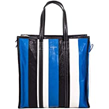 Balenciaga Mujer 443097DE9BN6460 Azul/Negro Cuero Bolso Tipo Shopper