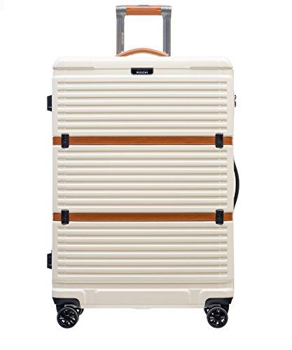 Koffer Reisekoffer Hartschalen Trolly Puccini® Oxford • 3 Größen 5 Farben (Weiß (8), Groß)