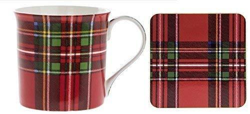 Leonardo Kollektion Royal Stewart Tartan Becher & Untersetzer Kaffee-Set Porzellan Tasse