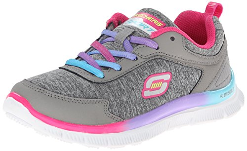 Skechers Girls Skech Appeal Flawless Flyer Low-Top Trainer Gray Grau (GYMT) Size: 9.5...