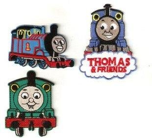 3pcs set of Thomas the Train Tank Engine Embroidered Iron On / Sew On Patch by Thomas & Friends
