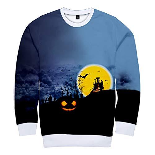 Blut-baby-puppe Shirt (Zilosconcy Halloween Kostüm Unisex Sweatshirts Herren Damen Halloween Aufdruck Hoody 3D Druck Hoodie Furchtsames Halloween 3D des Paares Druckte Partei LangäRmliges Hoodie Sweatshirt Oberseite Tops)