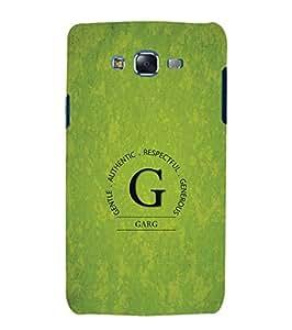 YuBingo Samsung Galaxy J5 (2015) :: Samsung Galaxy J5 Duos (2015 Model) :: Samsung Galaxy J5 J500F :: Samsung Galaxy J5 J500Fn J500G J500Y J500M Designer Phone Back Case Cover ( Monogram with Beautifully Written Surname Garg )