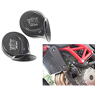 Pair Of Universal 12v Dual Tone 110db Air Horns - Great Upgrade For Cars or Motorcycles