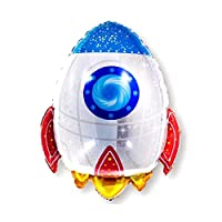 Astronaut Rocket Balloon Outer Space Planet Themed Air Ball Party Decor Supplies
